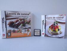 Leçons de cuisine Qu'allons nous manger aujourd'hui - Jeu DS complet avec notice