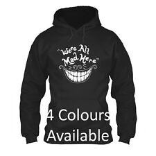 We're All Mad Here Alice In Wonderland Cheshire Cat Mens disney Hoodie funny