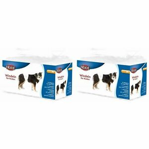24 x Trixie Male Dogs Diapers, Disposable Nappies, Large to XL for 60-80cm Waist