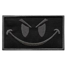 smiley evil face ACU subdued embroidered morale army ISAF touch fastener patch