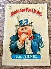 U.S. Arnie - 1986 Series 3 Garbage Pail Kids Cards #110b (RARE/TEACHER BACK)