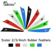 "20pcs 2"" 3"" 4"" Rubber Vanes Arrow Feather Shield DIY Shaft Fletching Bow Hunting"
