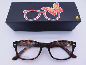Trendy Fashion Tortoise Readers With Box