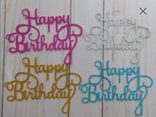 happy birthday bday Cake Topper baking icing royal  FAST FREE SHIP USA