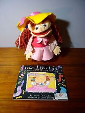 "14""Vintage Felt Hand Puppet Sheram When I was Little Girl Book Curtis Librarian"