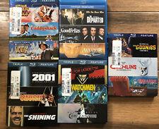 Triple Feature Bundle Blu-Ray Discs GoodFellas Clockwork Orange Blazing Saddles