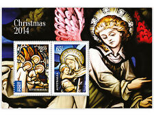 "Australia - ""STAINED - GLASS WINDOWS ~ CHRISTMAS 2014"" MNH Mini Sheet MS !"