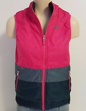 Nike Reversible Quilted Vest Pink/Navy Blue Fall Girl's Large Back to School