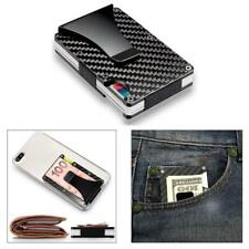 Mens RFID Blocking Slim Metal Aluminum Wallet Credit Card ID Holder Money Clip