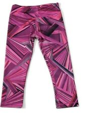 ZUMBA Xspicy Womens Activewear Gym Legging Geometric Pattern Pink Size XS/PP
