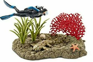 Schleich Wildlife coral reefs and divers play set figure 42328 4005086423282