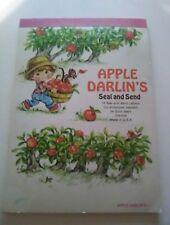 Vtg 70's Apple Darlin's SEAL AND SEND STATIONERY Letters & Seals Postalette's