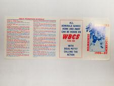 Milwaukee Admirals 1986/87 IHL Minor Hockey Pocket Schedule - WBCS (RK)