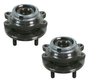 Pair Set 2 Front Moog Wheel Bearing Hub Kit for Infiniti FX50 G37 M37 M45 AWD