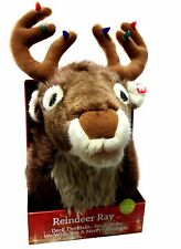 Christmas Xmas Singing Reindeer Head Hanging Soft Plush Stag Wall Decoration