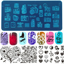DIY Nail Art Design Stamping Plates Stamp Template Image Stencil Manicure