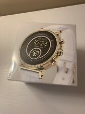 Michael Kors Access Sofie White Croc Bands Gold Smartwatch MKT5067 SEALED BOX