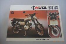 Verkaufsprospekt/Poster   ~MZ    ETZ 125  ETZ 150 ~~ //19