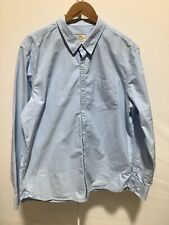 Mens Fat Face Size XL Blue and White Striped Long Sleeved Button Up Shirt