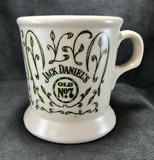 Vintage Jack Daniels Whiskey Mustache Mug Cup Old No.7 Cream w/ Green Ivy Bar