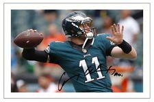 Carson WENTZ Philadelphia Eagles firmato Foto Autografo Stampa NFL Football