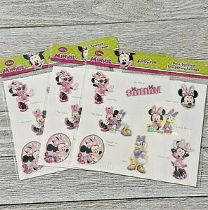 Minnie Mouse Temporary tattoos 3 packs of 8 assorted  new
