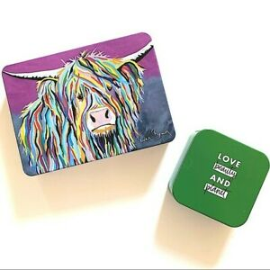 Steven Brown Mccoo Tin Canister Box  & Green Love Beauty & Planet Tin Box Empty