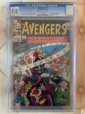 Avengers #7 - CGC 7.0 - Enchantress! Loki! Executioner! Baron Zemo!