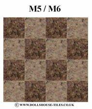 """Casa De Muñecas Miniaturas, suelos, en miniatura Azulejos.1 / 2 """"sq.sf 2. M5/M6 Azulejos"""