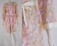 Delicate Sheer Chiffon Robe & Silk Satin Blend Sheer Bust Slip Warm Colours
