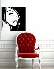 Wall Stickers Vinyl Decal Beautiful Girl Hairstyle Nice Room Decor (ig373)