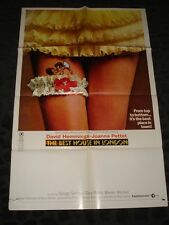 The Best House in Lonon folded movie poster - Sexploitation Film Adult X rated