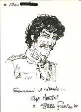 STELIO FENZO - DISEGNO ORIGINALE - DEDICAS 1986