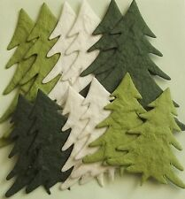 PACK 12 CHRISTMAS TREE (2 SIZES) EMBELLISHMENTS 4 CARDS & CRAFTS