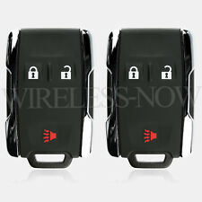 2 Car Fob Keyless Remote 3B Chrome For 2011 2012 2013 2014 Chevrolet Silverado