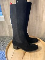 Marc Fisher 8W Incept Wide Calf Suede Tall Shaft Boots Black A295887
