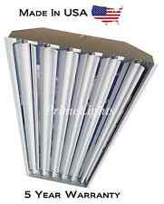 6Lamp T8 High bay Fluorescent Light Fixture (Quantity 5 with 50 Bulbs)  NEW
