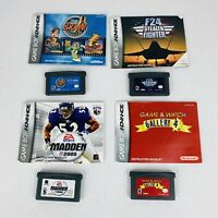Lot Of 4 GBA Games With Manuals Madden 05 F24 Skate Game Boy Advance