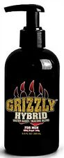 Nature Labs GRIZZLY MEN Water-Base & Slicone HYBRID 9.5oz SEX Lube Anal w/ PUMP