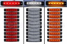 30 pcs 6 LED SMD 12V RED WHITE ORANGE Side Marker Light Position Truck Bus Auto