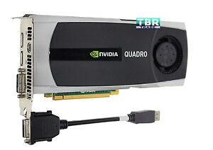 Nvidia Quadro 5000 2.5GB GDDR5 Video Graphics Card YMYKM PCI Express DVI DP