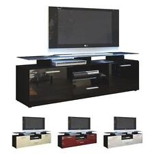 Black High Gloss Modern TV Stand Unit Media Entertainment Center