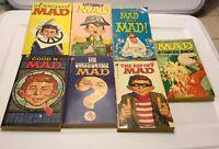 Lot Of 7 Vintage Mad Magazine Paperback Books 1970s GC