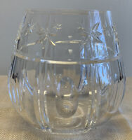 RARE WATERFORD CRYSTAL STEMLESS RED WINE GLASSES
