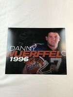 DANNY WUERFFUL FLORIDA GATORS SIGNED AUTOGRAPHED 8X10 PHOTO 1996 HEISMAN 1