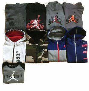 NWT Boys Nike Jumpman Air Jordan Zip-Up or Hoodies; Sizes 4,5, 6, 7, 8-10, 10-12