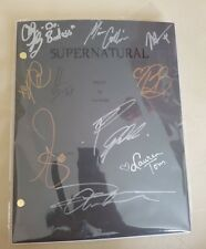 signed supernatural pilot episode script with certificate of authenticity