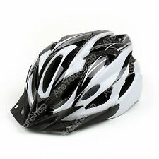 Mens Adult Street Ciclismo Bicicleta Bici Safety Carbon Casco White with Visor
