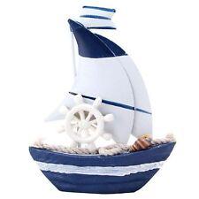 Mini Barca A Vela In Legno Decorazione Casa Marina Articolo Da Regalo moc