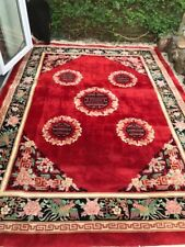 More details for antique chinese wool rug - stunning & extra large